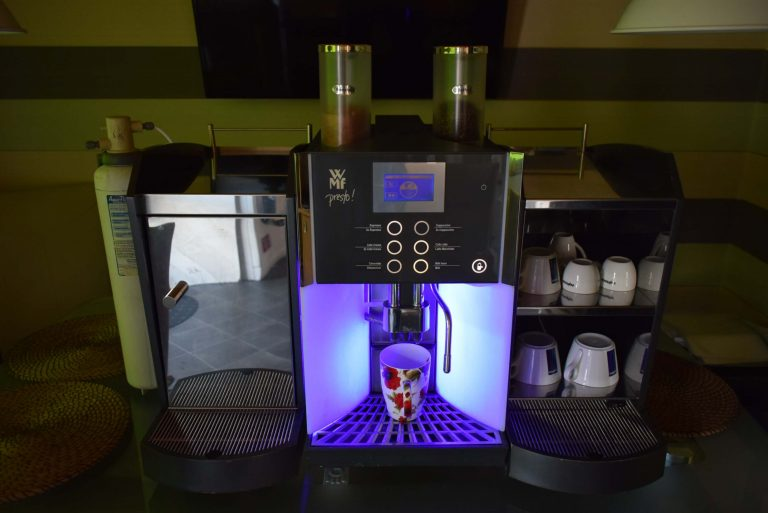 Commercial Bean to Cup Coffee Machine WMF Presto + Milk fridge + Cups warmer