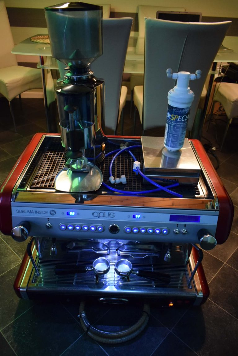 BRASILIA Opus SUBLIMA R D 2 Group Espresso Machine with GRINDER & KNOCKOUT DRAW